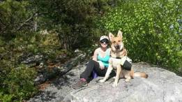 Hiking with Sophie in George Washington National Forest